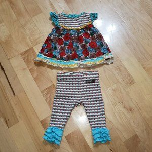MATILDA JANE Baby Girls Sz 3-6 month Outfit